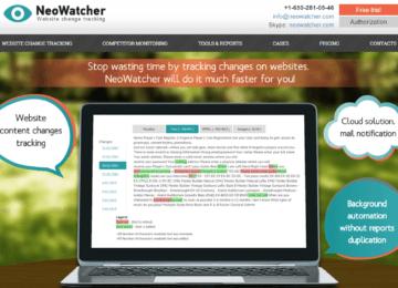 Сайт визитка для стартапа NeoWatcher