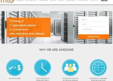 Корпоративный сайт для рекрутингового агентства MCG