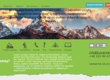 Перевод сайта клуба туристов Кулуар на польский язык